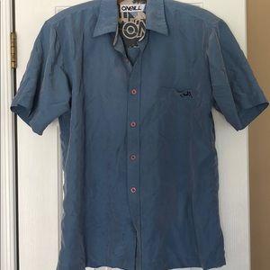 Men's ONEIL Small Shirt Button Down Blue